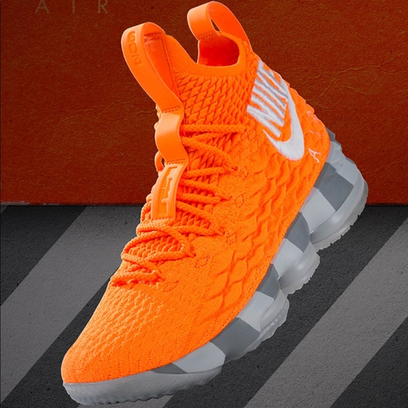 "991a7c1d5a41 Lebron 15 ""Orange Box""  lebronwatch size 14 shoes"